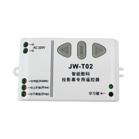 Wholesale Projection Screen Wireless Remote Controller amp Receiving Controller JW T02 MHz New F3012B315