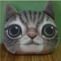 Wholesale Big cat Animal Cartoon Plush Toys Pillow Cushion Decorate For Sofa And Chair Home Decoration Soft Cushions L478