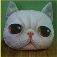 Wholesale 3 Cartoon Cat Plush Sofa Cushion Car Cushion Dining Chair Cushion Pillow Case L478