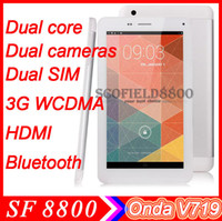 Onda 7 inch Dual Core Onda V719 3G monster phone tablet 7''Capacitive screen 1024*600 MTK8312 dual core 1.2GHz dual cameras 2.0MP Android4.2 3G Bluetooth GPS HDMI