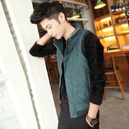 Wholesale men Stand collar Thicken Leisure Imitation silk cotton Vest