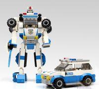 Wholesale Robotic Cars Assembled Toys Children s Intelligence Development Educational Plastic Building Blocks Toy Bricks L475