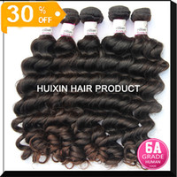 Russian Hair Natural Wave Huixin hair 2 6A Grade Brazilian 100% virgin hair Natural wave Steam Processed Full Cuticle 3 bundles lot Mixed lengths hair A