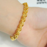 Wholesale Happy with the money earned treasure gold shop gold plated bracelet beautiful Pteris bridal wedding jewelry accessories