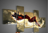 More Panel Oil Painting modern red Sexy nude woman body oil paintings girl abstract wall art painting on canvas Modern home decoration gift pictuue 5pcs set free shipping