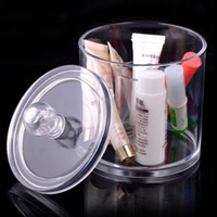 Wholesale USA INSTOCK Acrylic Cosmetic Case Clear Makeup Organnizer Jewelry Display Case Travel Carring Box SF