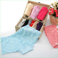 bamboo - Candy Sexy Women Underpants Lady Lace Underwear Bamboo Fiber Girls Briefs
