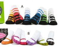 Wholesale 2014Baby Boat socks Anti slip Socks Newborn training socks Baby Ankle socks First Walking socks YFF967H