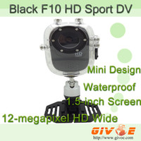 Wholesale Black Sports Video Camera Mini Full HD Video Recorder F10 with Full HD P FPS Waterproof up to M HDMI