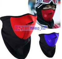 mask   2014 new New Paintball Bicycle Motorcycle Ski Winter Warm Neck Half Face Mask Black