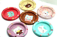 Wholesale Children s stationery New cute japanese girl iron coffee cup coaster cup mat