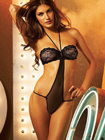 Wholesale 2013 Hot Sale Christmas Sexy Black Acrylic Spandex Womens lingerie transparent dress r22 u9 woE