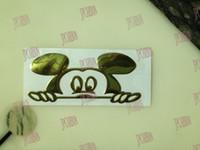 Wholesale of Golden Cute D Mouse Decal Sticker Car Bike Emblem logo Fender Doors Hood Trunk