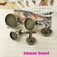 Wholesale Free Nickel mm Cabochons Tray Bezel Cufflinks Cuff Link Base Blanks Brass Metal Gold Silver Rhodium Bronze Plated DIY Findings