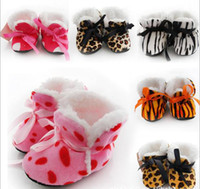 Wholesale New Hot Sale Winter baby shoes socks thick newborn sock toddler shoes covers leopard print floor home shoes pairs