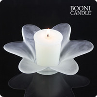 Wholesale New arrival hot selling white scrub Large petals tea wax wishing candle station product