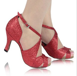 Wholesale Special shoes for women in Latin Adult Latin dance shoes with square dance ballroom dancing shoes women wear costumes high heeled
