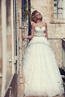 A-Line balls themes - Elegant Sexy Ball Gown Sweetheart Full Lace New Model Theme Backless Wedding Dresses A Line Spaghetti Peplum Pleated Floor Length Dress