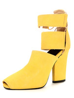 Wholesale Gorgeous Yellow Terry Peep Toe Shoes woman r36 u7 yJp