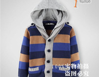 Wholesale Fashion Autumn Winter Children s Sweaters Pure Wool Stripe Boys Hoodies Sweaters Kids Kintted Pullover Topwear