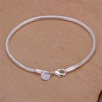 Wholesale Hot Sales MM inches long Silver Snake Charm Chain Bracelet g