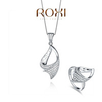 Wholesale 2014ROXI bridal jewelry Set platinum plated with AAA zircon modelling of fashion Micro Inserted Jewelry