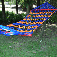 Cheap Outdoor fishing net stick hammock swing bed two-site 190 80cm