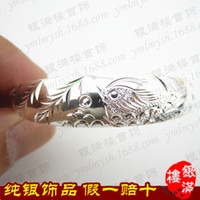 Wholesale 999 sterling silver bracelets wide duck authentic silver jewelry jewelry gift TB032S YML8 YML8 YML8 YML
