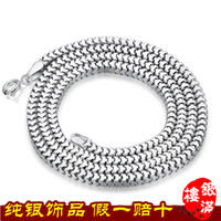 Wholesale 925 sterling silver box chain necklace wild men silver chain sterling silver jewelry manufacturers Lu son Joe with paragraph TN0118 YML