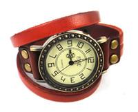 Wholesale Genuine Cow leather vintage watch for quartz leather wristwatches
