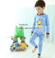 girls wear underwear - Children Clothing Two Piece Leisure Wear Boy And Girl Cartoon Printed Pajamas Childrens Sleepwear Baby Clothes Kids Underwear Child Pyjamas