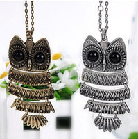 Pendant Necklaces animal jewelry - Origami Owl Necklace For Women Vintage Silver And Bronze Color Pop Owl Pendant Necklace Animal Jewelry