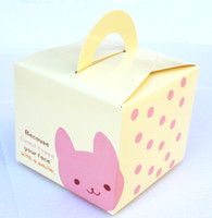 Wholesale 9 cm Cartoon Animal Painting Candy Paper Box Color Cupcake Containers Party Supplies CK050