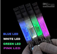 Wholesale New Transparent Atomizer LED Light Atomizer of White Blue Red Pink Color Random Color