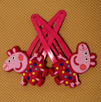 Barrettes Plastic Animal Newest Baby Peppa pig Hairpin Clips George Baby hairbands peppa pig Hair Claws 5 styles Choose baby hair ornament BB clamp hair clips Melee