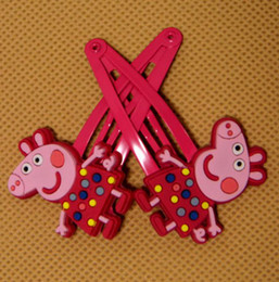 Wholesale Newest Baby Peppa pig Hairpin Clips George Baby hairbands peppa pig Hair Claws styles Choose baby hair ornament BB clamp hair clips Melee
