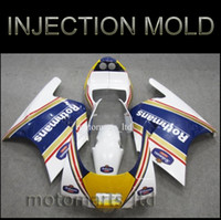 Wholesale INJECTION MOLDING white yellow NSR250R ABS Plastic Bodywork Set New Fairing Body Kit Bodywork Fairing for Honda NSR250 R R2J