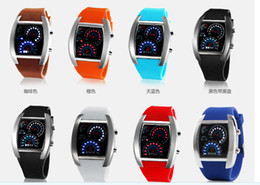 Wholesale Mix Colors Watches Men Flash Digital LED Military Watch Sports Race Car Meter Dial Watches RW010