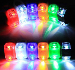 Colorful Bike Light Bicycle led Handlebar Warning Light 3 kinds of switching Silicone decorative lights Bike Tail led Light