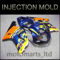 Wholesale INJECTION MOLDING GSXR600 GSXR750 Telefonica yellow blue Body Kit Fairing for Suzuki GSXR GSXR750 GSX R