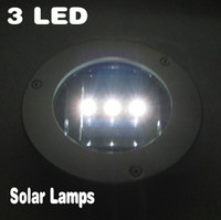 Wholesale 3 LED Solar Waterproof Underground Light Lamp Round Floor Lamps Garden Road Lights