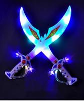 Wholesale Flash battery music sword toys luminous light knife toys electronic sword child toys LED sword toys