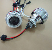 Wholesale 35w inch Hid Bi xenon Projector Lens Kits wiht CCFL Angel Eyes Devil Eyes for model ABC Motorbike