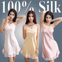 Wholesale 2014 New Silk Sexy Pajamas Women Silk Pajama Sexy Fashion Lace Nightgown Sleepwear Summer Silk