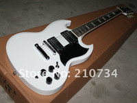 Solid Body 6 Strings Mahogany New arrival Custom Shop USA Deluxe SG Electric Guitar Alpine White Best Guitars Top High Quality