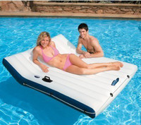 Wholesale Intex58865 double floating row deluxe water casual chaise lounge pool floating row floating bed