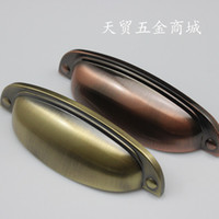 other   Chinese classical furniture, antique bronze red bronze drawer handles simple retro western medicine cabinet cupboard handle
