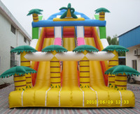 Wholesale High quality summer water slide inflatable water slide jungle inflatable slide with pool