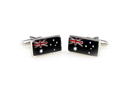 Wholesale New Unique design Australia Cuff Links Enamel Stainless Steel Fashion Business Weddings Cufflinks top grade gift fashion jewelry
