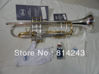 Wholesale High copy Bach small silver plated imported technology silver brass instruments Bb trumpet